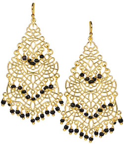 Sky Chandelier Earring - Black