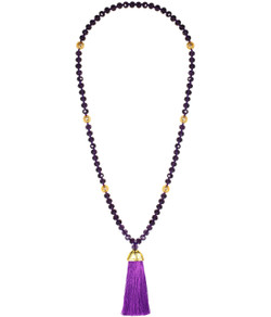 Mary Necklace - Purple
