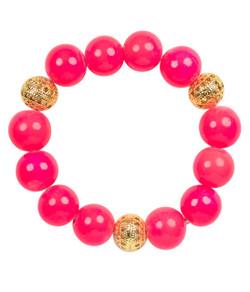 Beaded Bracelet - Miss Pink