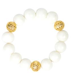Beaded Bracelet - White