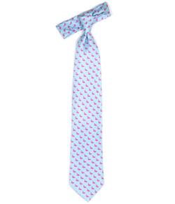 Tie - Blue Flamingo