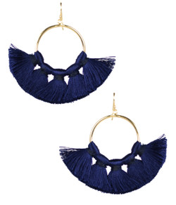 Izzy Gameday Earrings - Navy