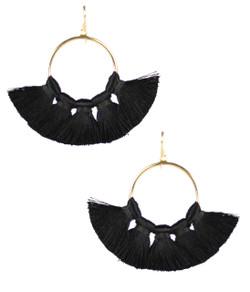 Izzy Gameday Earrings - Black