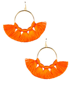 Izzy Gameday Earrings - Orange - Pre-Order