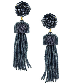 Tassel Earrings - Gunmetal