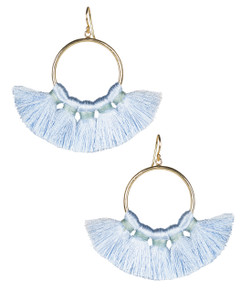 Izzy Gameday Earrings - Carolina Blue