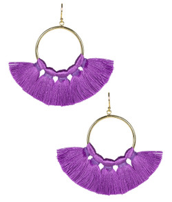 Izzy Gameday Earrings - Grape
