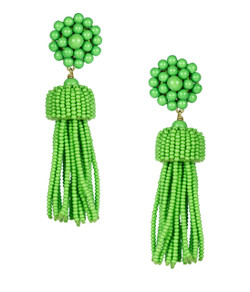 Tassel Earrings - Grass