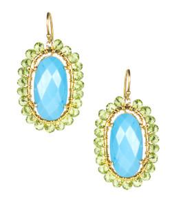 Jenny - Turquoise & Czech Green