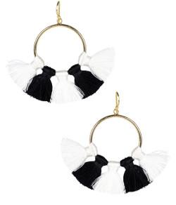 Izzy Gameday Earrings - White & Black