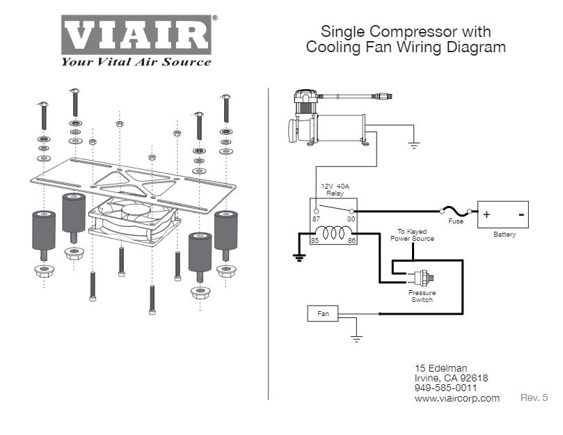 VIAIR COOLING FAN / VITION ISOLATOR KIT (280C/380C/400C) on