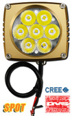 "(PAIR) 35w CREE LED, 3""x3""x2.5"" GOLD TRIM, 10 DEGREE SPOT"