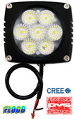 "(PAIR) 35w CREE LED, 3""x3""x2.5"" BLACK TRIM, 45 DEGREE FLOOD"