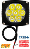 "(PAIR) 35w CREE LED, 3""x3""x2.5"" BLACK TRIM, 10 DEGREE SPOT"