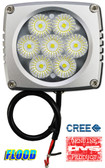"(PAIR) 35w CREE LED, 3""x3""x2.5"" SILVER TRIM, 45 DEGREE FLOOD"