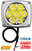 "(PAIR) 35w CREE LED, 3""x3""x2.5"" SILVER TRIM, 10 DEGREE SPOT"