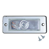 LICENSE PLATE BOX LIGHT REPLACEMENT WITH REGULAR BULB. CAN BE USED IN MANY OTHER APPLICATIONS.
