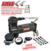 VIAIR #380C BLACK COMPRESSOR WITH FREE SHIPPING