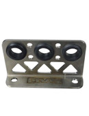 AVS STAINLESS STEEL 3-HOLE AIR LINE BRACKET (TALL) FOR AIRLIFT 3P/3H/3S