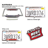 LICENSE PLATE FRAME WITH L.E.D. STRIP AND BRAKE LIGHT