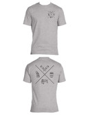 "AVS SHIRT ""AIR X"" ON  LIGHT GREY TEE"