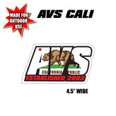 "AVS CALI STICKER 4.5"" WIDE OUTDOOR USE"