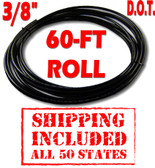 """3/8"""" D.O.T. AIR LINE - 60-FT ROLL - SHIPPING INCLUDED - ALL 50 STATES"""