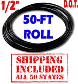 """1/2""""  D.O.T. NYLON AIR LINE - 50-FT ROLL - SHIPPING INCLUDED - ALL 50 STATES"""