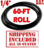 """1/4""""  D.O.T. AIR LINE - 60-FT ROLL - SHIPPING INCLUDED - ALL 50 STATES"""