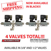 This assembly comes as pictured with mounting brackets. It is pre-plumbed with Loctite 445 thread sealant. Each assembly is  pressure tested and will arrive 100% leak free. Includes 2 AVS valves (2 Year Warranty) AVS Push-To-Connect Nickel Plated Brass Fittings. For a Front/Back/Side/Side set up you will need 4 of these assemblies.