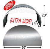 WHEEL TUBS LARGE WITH SIDE PANELS - EXTRA WIDE (PAIR)