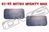 87-95 MITSUBISHI MIGHTY MAX DOOR HANDLE FILLER PLATES (PAIR)