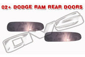 02-UP DODGE RAM DOOR HANDLE FILLER PLATES (REAR DOORS)