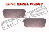 86-93 MAZDA PICKUP DOOR HANDLE FILLER PLATES (PAIR)