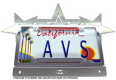 STAR DESIGN LICENSE PLATE BRACKET ADD ON PLATE