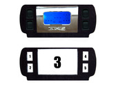 AVS PANEL FOR 99-06 CHEVY OVERHEAD CONSOLE WITH FOUR SMALL ROCKERS SWITCHES CUT OUTS, AND AVS DIGITAL GAUGE CUT OUT