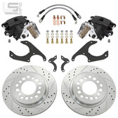 LITTLE SHOP MFG GM LATE STYLE S10 & MIDSIZE REAR DISC BRAKES