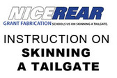 INSTRUCTION ON SKINNING A TAILGATE