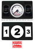 "AVS GAUGE PANEL WITH ONE 2"" INCH GAUGE AND TWO PNEUMATIC SWITCH CUT OUTS P10"