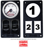 """AVS GAUGE PANEL WITH ONE 2"""" INCH GAUGE AND TWO PNEUMATIC SWITCH CUT OUTS P15"""