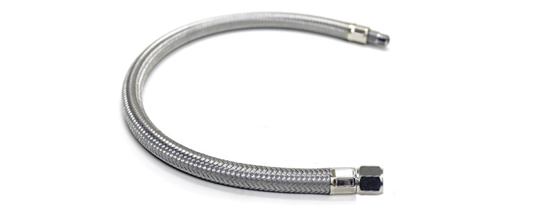 VIAIR STAINLESS STEEL BRAIDED LEADER HOSE WITHOUT CHECK