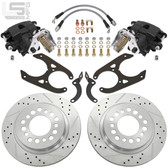 "LITTLE SHOP MFG  GM 88-00 C1500 Rear Disc Brakes (5-lug, 10"" Drum)"