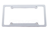 LICENSE PLATE FRAME BRUSHED BILLET