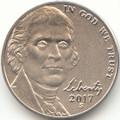2017 S Jefferson Enhanced Uncirculated Nickel Uncirculated