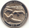 2017 S Washington Enhanced Uncirculated Effigy Mounds National Monument (Iowa) Quarter Uncirculated