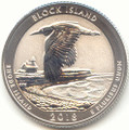 2018-S America the Beautiful Block Island National Wildlife Refuge in Rhode Island Silver Washington Quarter Reverse Proof