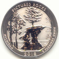 2018-S America the Beautiful Pictured Rocks National Lakeshore in Michigan Silver Washington Quarter Reverse Proof
