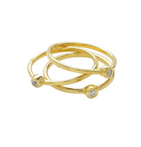 THIN STACKING RING- CLEAR QUARTZ