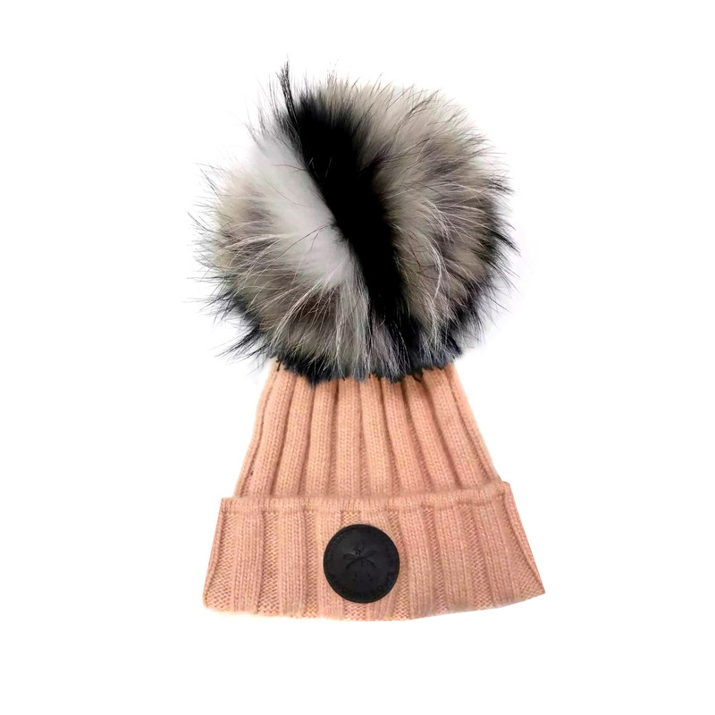 Game Face Tawny orange/pink Hat Natural Fur