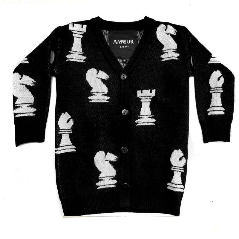 Chess Sweater Black